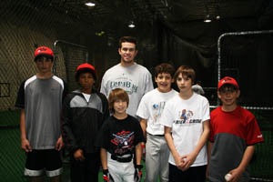 Evan Longoria with Customer's Children