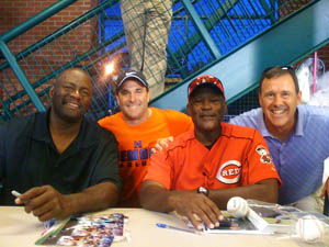 Lee Smith and George Foster with Customers
