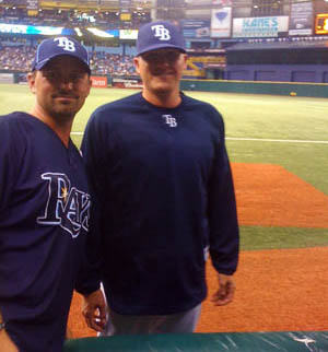 Me and Jake McGee at his Major League deabut vs Yankees